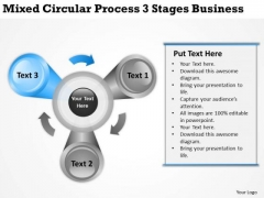 Mixed Circular Process 3 Stages Business Ppt Plan Samples PowerPoint Slides