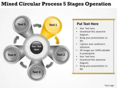 Mixed Circular Process 5 Stages Operation Ppt Business Plan PowerPoint Templates