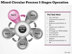 Mixed Circular Process 5 Stages Operation Ppt How To Right Business Plan PowerPoint Slides