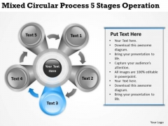 Mixed Circular Process 5 Stages Operation Ppt What Is Business Planning PowerPoint Templates