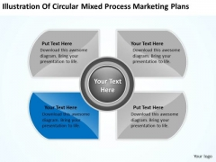 Mixed Process Marketing Plans Ppt Business Template Free PowerPoint Slides