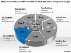 Model With Pie Donut Diagram 7 Stages Business Plan For PowerPoint Templates