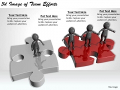 Modern Marketing Concepts 3d Image Of Team Efforts Character
