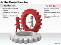 Modern Marketing Concepts 3d Man Running Inside Gear Basic Business