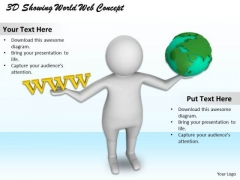 Modern Marketing Concepts 3d Showing World Wide Web Business