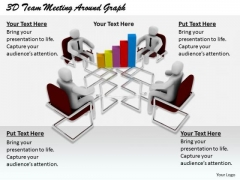 Modern Marketing Concepts 3d Team Meeting Around Graph Characters