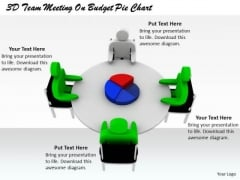 Modern Marketing Concepts 3d Team Meeting Budget Pie Chart Characters