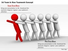 Modern Marketing Concepts 3d Team Row Teamwork Characters
