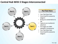 Modern Marketing Concepts Central Hub With 5 Stages Iterconnected