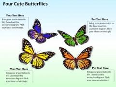Modern Marketing Concepts Four Cute Butterflies Business Stock Images