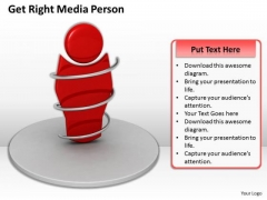 Modern Marketing Concepts Get Right Media Person Business Stock Images