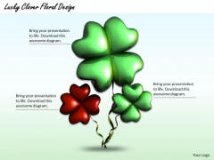 Modern Marketing Concepts Lucky Clover Floral Design Business Icons