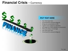 Money Down The Drain PowerPoint Templates