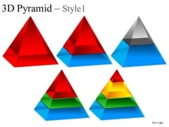 Multi Layer 3d Pyramid PowerPoint Slides And Ppt Diagrams Templates