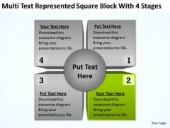 Multi Text Represented Square Block With 4 Stages Ppt Business Plan Maker PowerPoint Templates