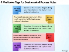 Multicolor Tags For Business And Process Notes Ppt Sample Of Proposal PowerPoint Slides