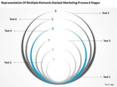 Multiple Elements Stacked Marketing Process 6 Stages Ppt Best Business Plan PowerPoint Templates