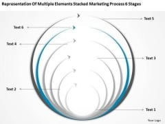 Multiple Elements Stacked Marketing Process 6 Stages Ppt Business Plan Model PowerPoint Slides