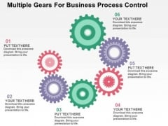 Multiple Gears For Business Process Control PowerPoint Template