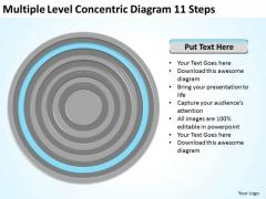 Multiple Level Concentric Diagram 11 Steps Ppt Simple Business Plans PowerPoint Slides