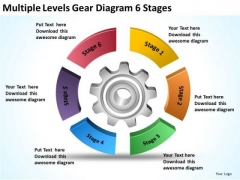 Multiple Levels Gear Diagram 6 Stages Business Plans PowerPoint Templates