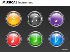 Music Notes Icons PowerPoint Graphics Slides