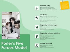 NPD Analysis Porters Five Forces Model Ppt Infographics Background Designs PDF