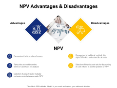 NPV Advantages And Disadvantages Ppt PowerPoint Presentation Show Outfit