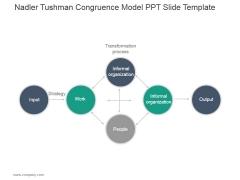 Nadler Tushman Congruence Model Ppt PowerPoint Presentation Design Ideas