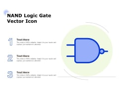 Nand Logic Gate Vector Icon Ppt PowerPoint Presentation Styles Brochure