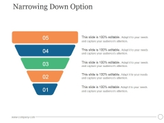 Narrowing Down Option Ppt PowerPoint Presentation Influencers