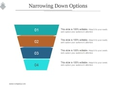 Narrowing Down Options Ppt PowerPoint Presentation Professional