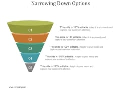 Narrowing Down Options Ppt PowerPoint Presentation Visuals