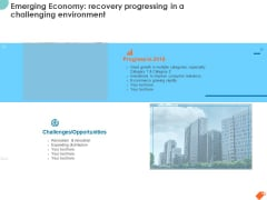 National Sales Conference Emerging Economy Recovery Progressing In A Challenging Environment Slides PDF