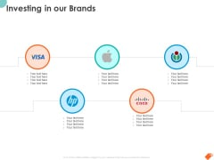 National Sales Conference Investing In Our Brands Ppt PowerPoint Presentation Show Grid PDF