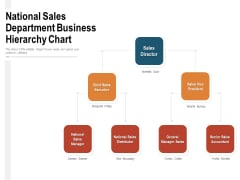 National Sales Department Business Hierarchy Chart Ppt PowerPoint Presentation Gallery Gridlines PDF