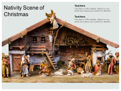 Nativity Scene Of Christmas Ppt PowerPoint Presentation Infographic Template Structure