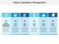 Nature Operations Management Ppt PowerPoint Presentation Professional Good Cpb