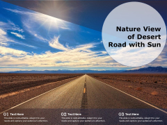 Nature View Of Desert Road With Sun Ppt PowerPoint Presentation Summary Gallery PDF