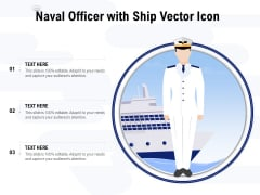 Naval Officer With Ship Vector Icon Ppt PowerPoint Presentation Inspiration Icon PDF