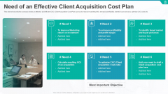 Need Of An Effective Client Acquisition Cost Plan Ppt Example File PDF