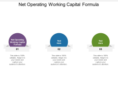 Net Operating Working Capital Formula Ppt PowerPoint Presentation Inspiration Demonstration Cpb