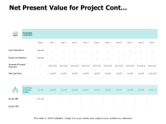 Net Present Value For Project Cont Ppt PowerPoint Presentation Infographic Template Graphics Template