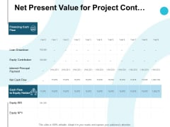Net Present Value For Project Cont Table Ppt PowerPoint Presentation Pictures Gridlines