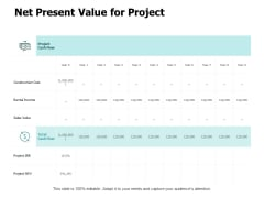 Net Present Value For Project Ppt PowerPoint Presentation Portfolio