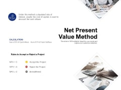 Net Present Value Method Ppt PowerPoint Presentation File Diagrams