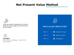 net present value method ppt powerpoint presentation portfolio brochure
