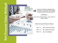 Net Present Value Method Ppt PowerPoint Presentation Styles Show