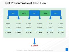 Net Present Value Of Cash Flow Ppt PowerPoint Presentation Layouts Portrait