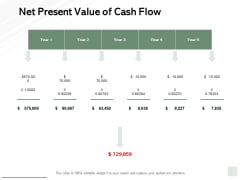 Net Present Value Of Cash Flow Ppt PowerPoint Presentation Outline Clipart Images